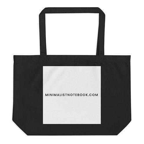 minimalistnotebook.com large organic tote bag