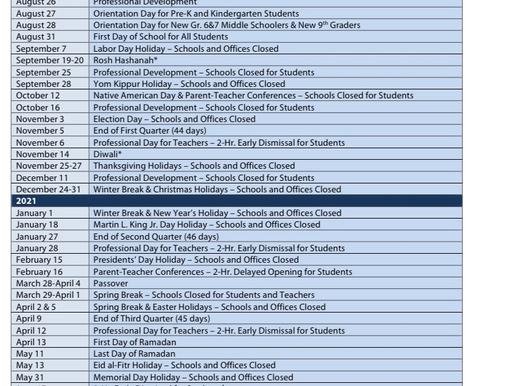 2020-2021 PGCPS Calendar