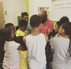 Praying with students