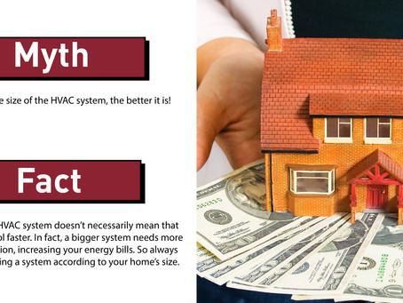 Myth Vs Fact: HVAC Size