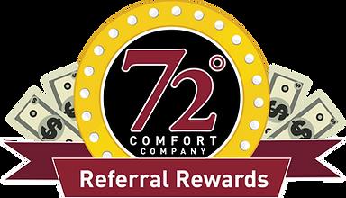 72 Degrees Referral Rewards Logo