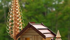 かわいいログハウス型のお香ホルダー