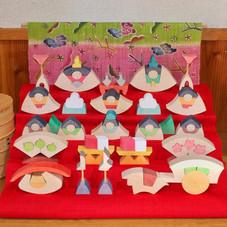 楕円びな五段飾り 特製垂幕(桜)