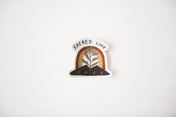 Sacred Like Sage Sticker