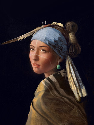 Girl With the Turquoise Earring