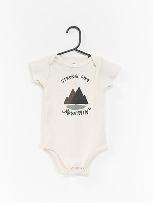 Strong Like Mountain Onesie
