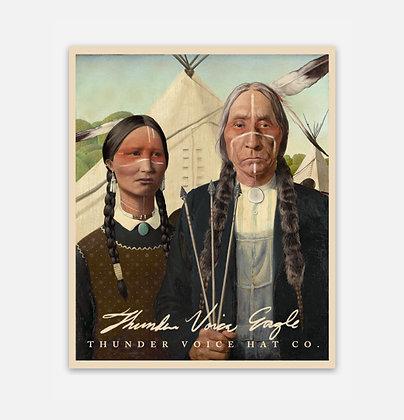 Native American Gothic Sticker