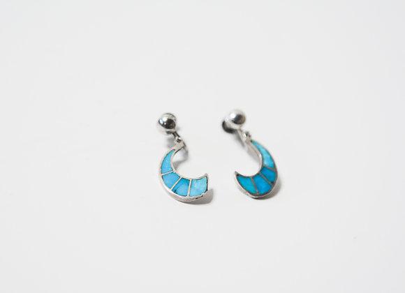 Antique Moon Crescent Earrings