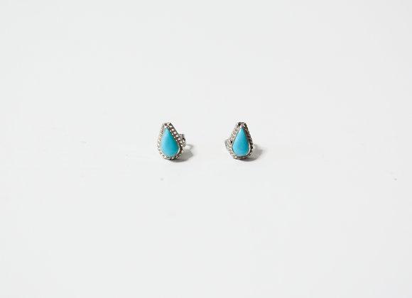 Tear Drop Turquoise Post Earrings