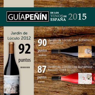 Jardín de Lúculo en la Guia Peñin 2015 /  Jardín de Lúculo in Guia Peñin 2015!