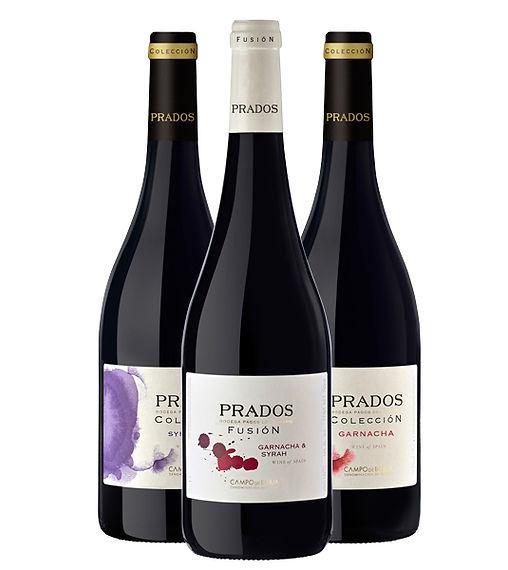 3 vinos prados de la bodega Pgos del Moncayo