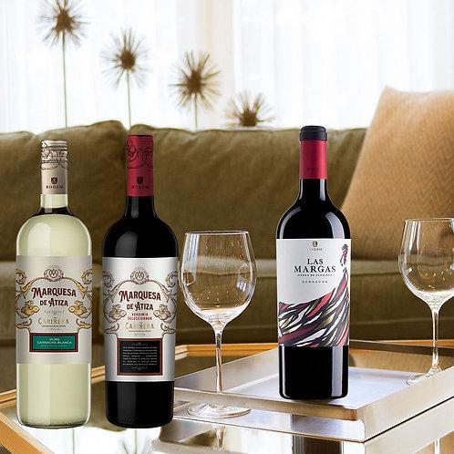 """Pack 3 vinos """"Conviértete en experto del vino desde el sofá"""""""