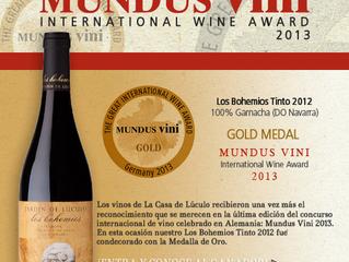 Cosecha de medallas en Mundus Vini 2013 / Medal Harves in Mundus Vini 2013