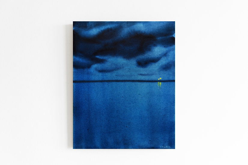 BLUE ABYSS, 40*50 cm