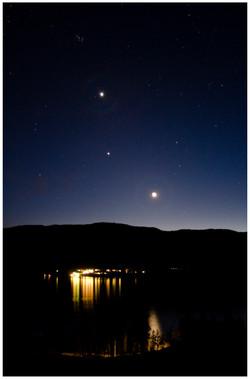 Crescent Moon Jupiter and Venus Mar 24 2