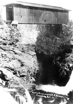 Cascade Falls bridge