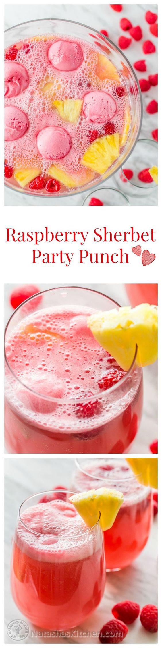 Raspberry Sherbert Party Punch