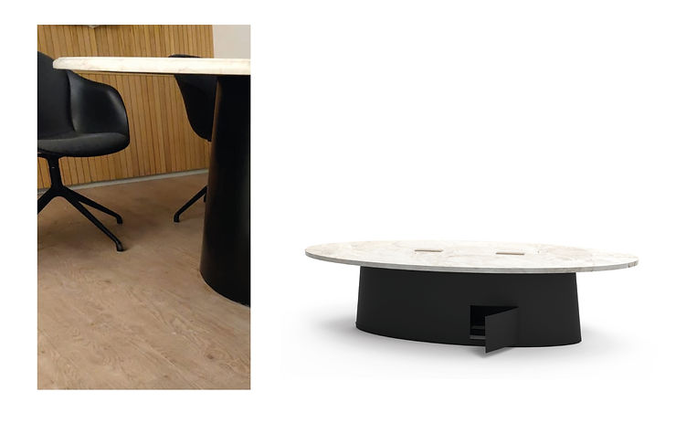 MARBLE AND CORIAN MEETING TABLE