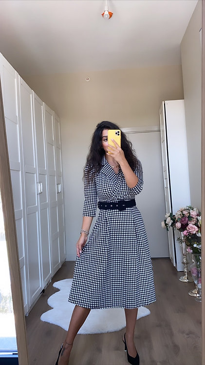 Kazayagi Kemerli Elbise