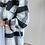 Thumbnail: Siyah Gri beyaz Kase Ceket gomlek