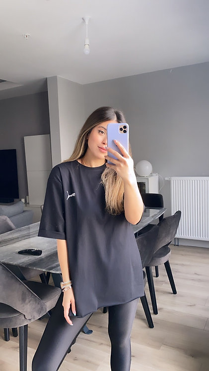 Siyah Duble Kol Puma Tshirt