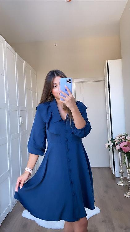 Indigo Yikamali Elbise
