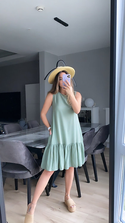 Mint tiril Basic Elbise