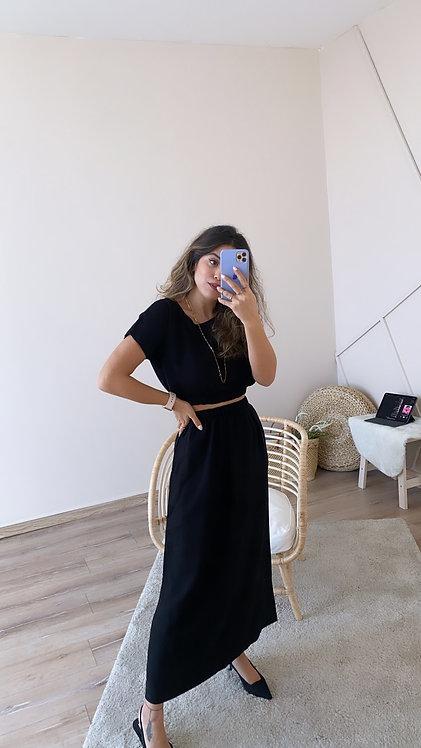 Siyah etek Bluz Takim