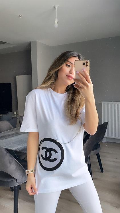 Chanel Cantali Beyaz Tshirt