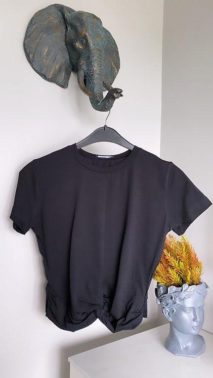 Koyu Lacivert Dugumlu Tshirt