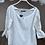 Thumbnail: Beyaz kayik yaka keten kendinden gupur bluz