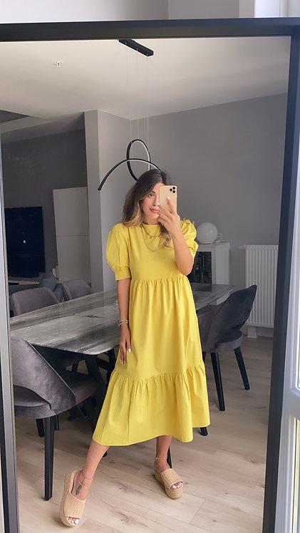 Fistik Poplin Elbise