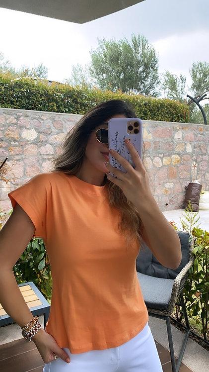 Turuncu Dik Yaka Tshirt