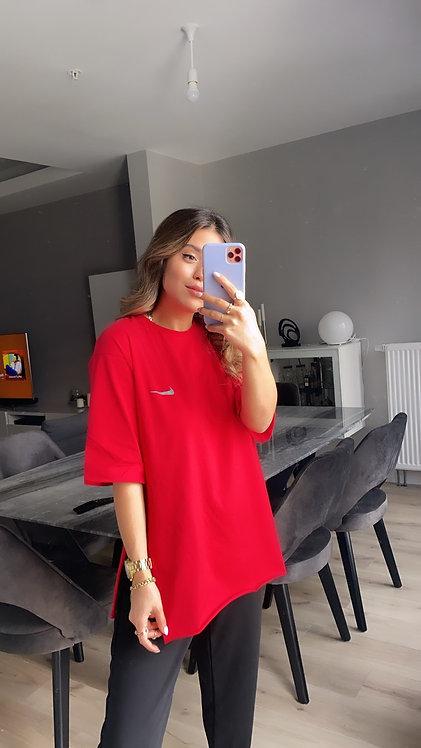 Kirmizi Nike Duble Kol Tshirt