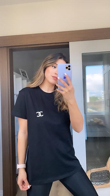 Broslu Siyah Tshirt