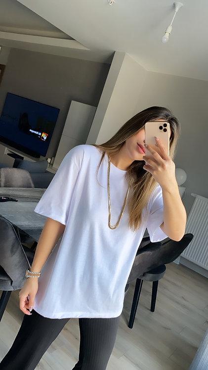 Beyaz Pamuk Basic Tshirt