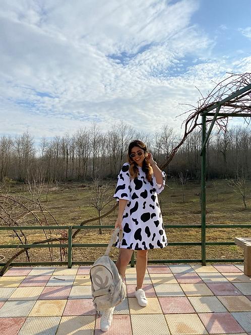 Siyah beyaz  Milka Elbise