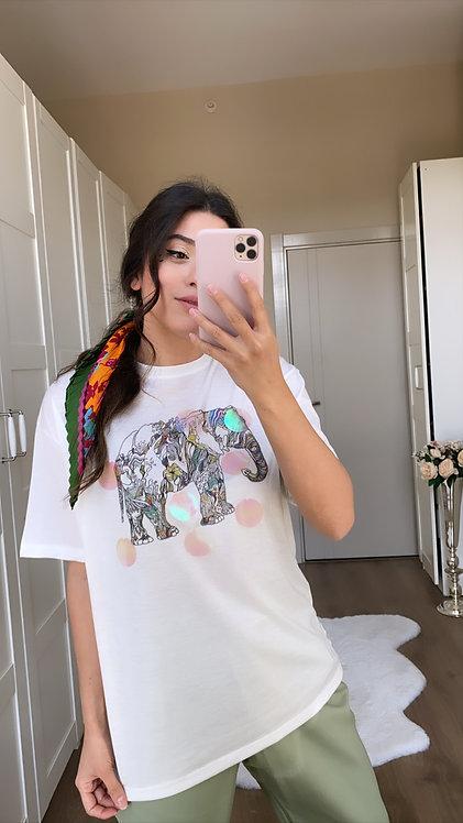Aksesuarlı Filli T-shirt
