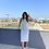 Thumbnail: Acik Gri Kaskorse Basic Kalem elbise