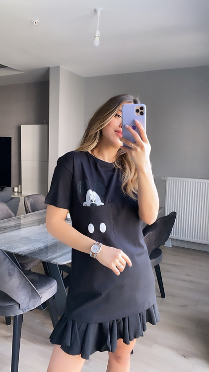 Cebi Mickey Siyah tasli Tshirt