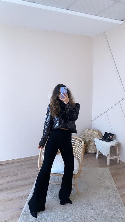 Siyah Ispanyol Orjinal Pantolon