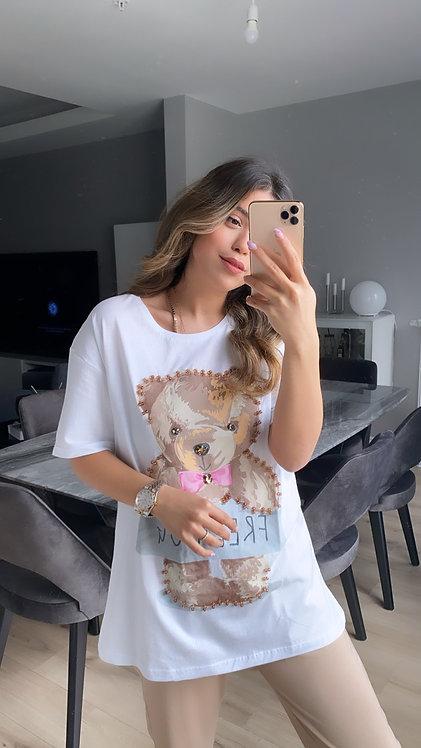 Boncuklu Ayicik Tshirt