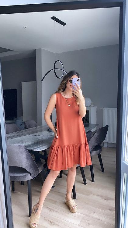 Alti volanli tarcin Basic elbise