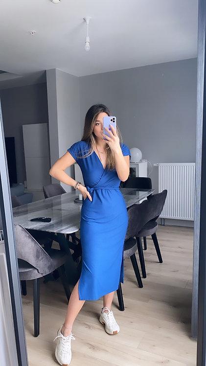 Indigo Kruvaze Elbise