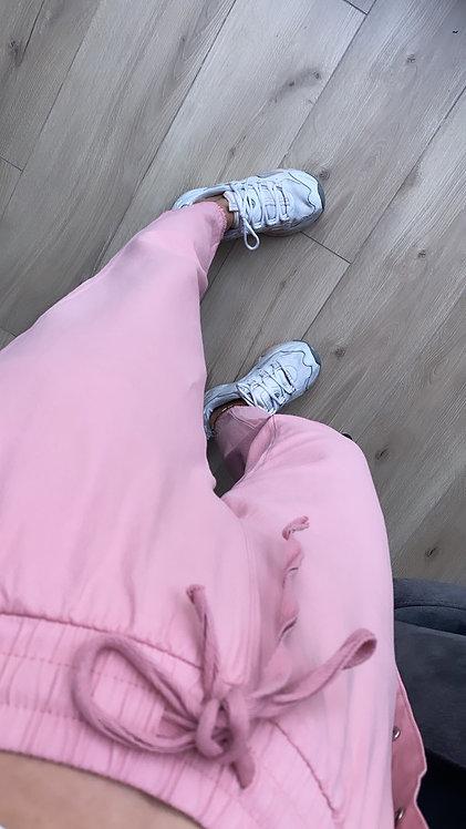 Pembe Lastikli Basic pantolon