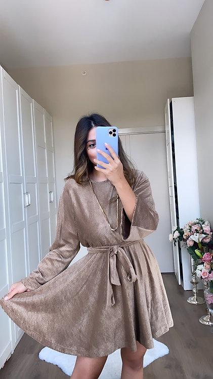 Sutlukahve Kadife Kilos Elbise
