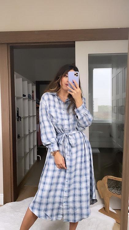 Ozel Kumasli Gomlek Elbise