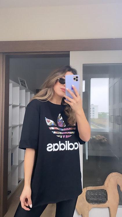 Siyah Adidas Duble Kol Tshirt