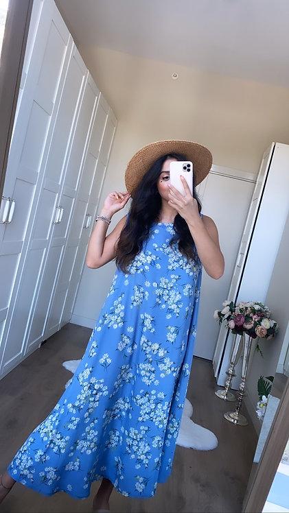 Mavi Papatya Elbise