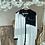 Thumbnail: Siyah beyaz maych cebi tasli uzun gomlek